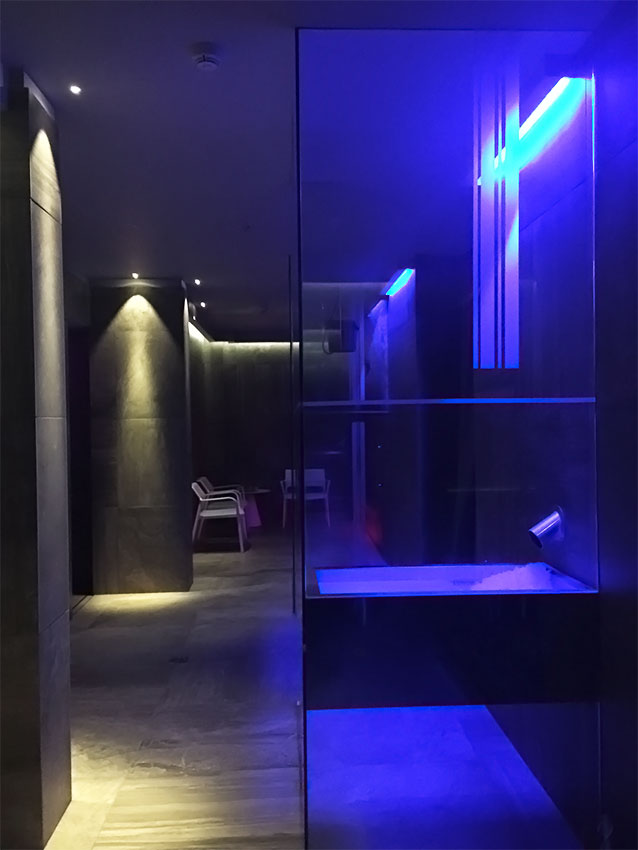 Hotel Embassy impatto termico vasca ghiaccio