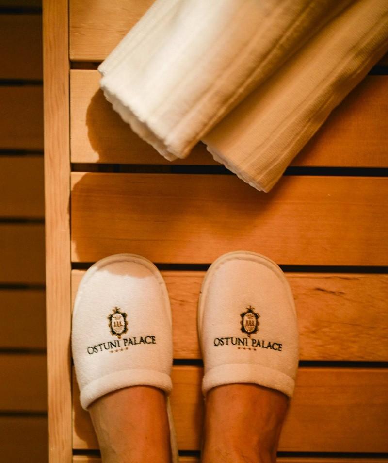 Hotel Ostuni Palace sauna finlandese accessori