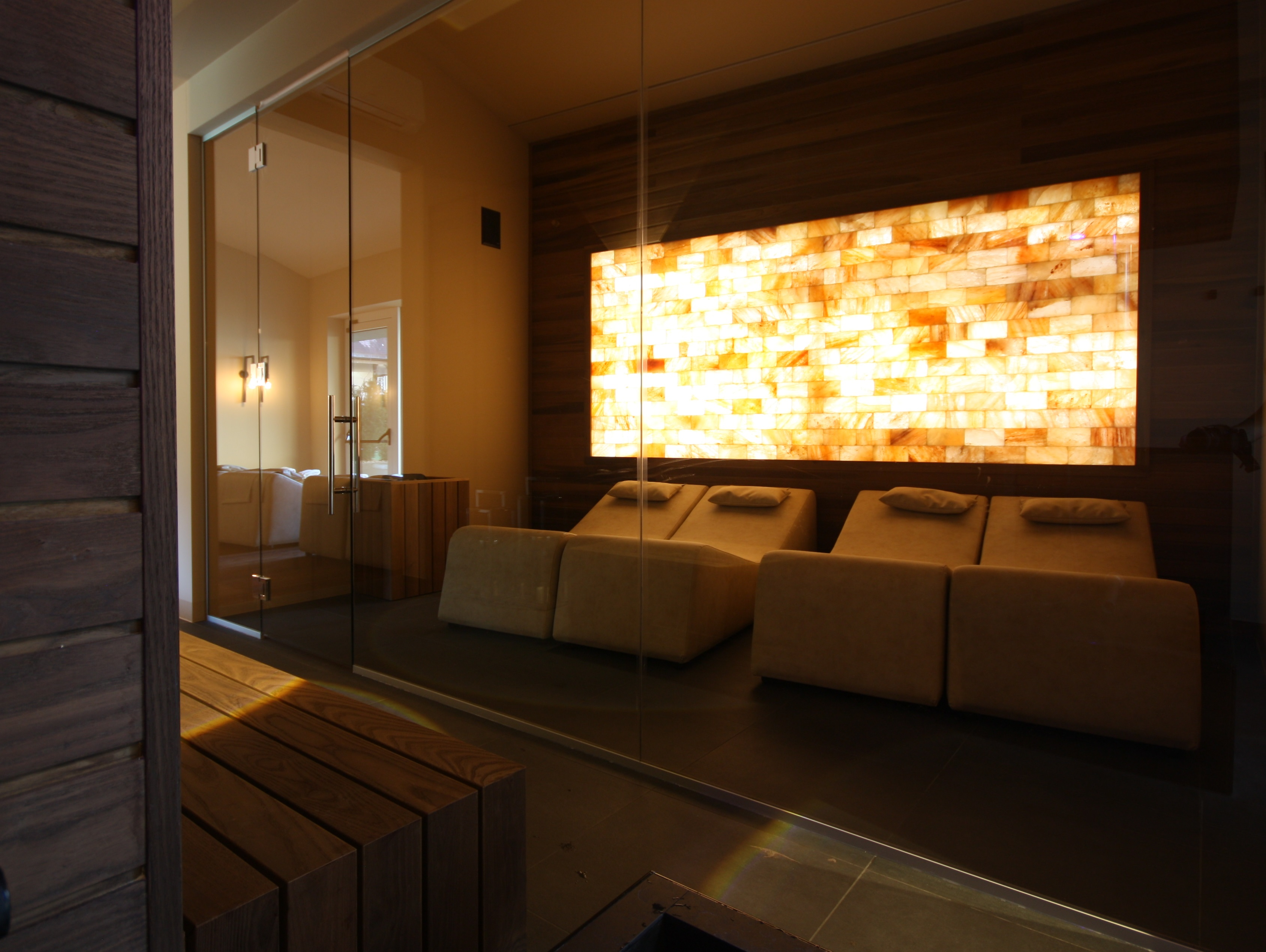 Sala Relax con parete salina