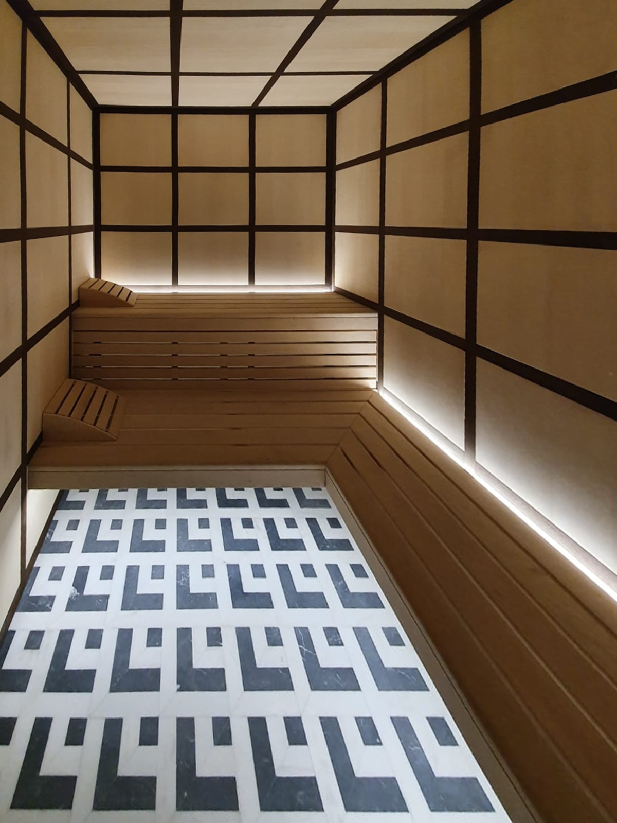 Sauna complesso residenziale Carre Or Montecarlo