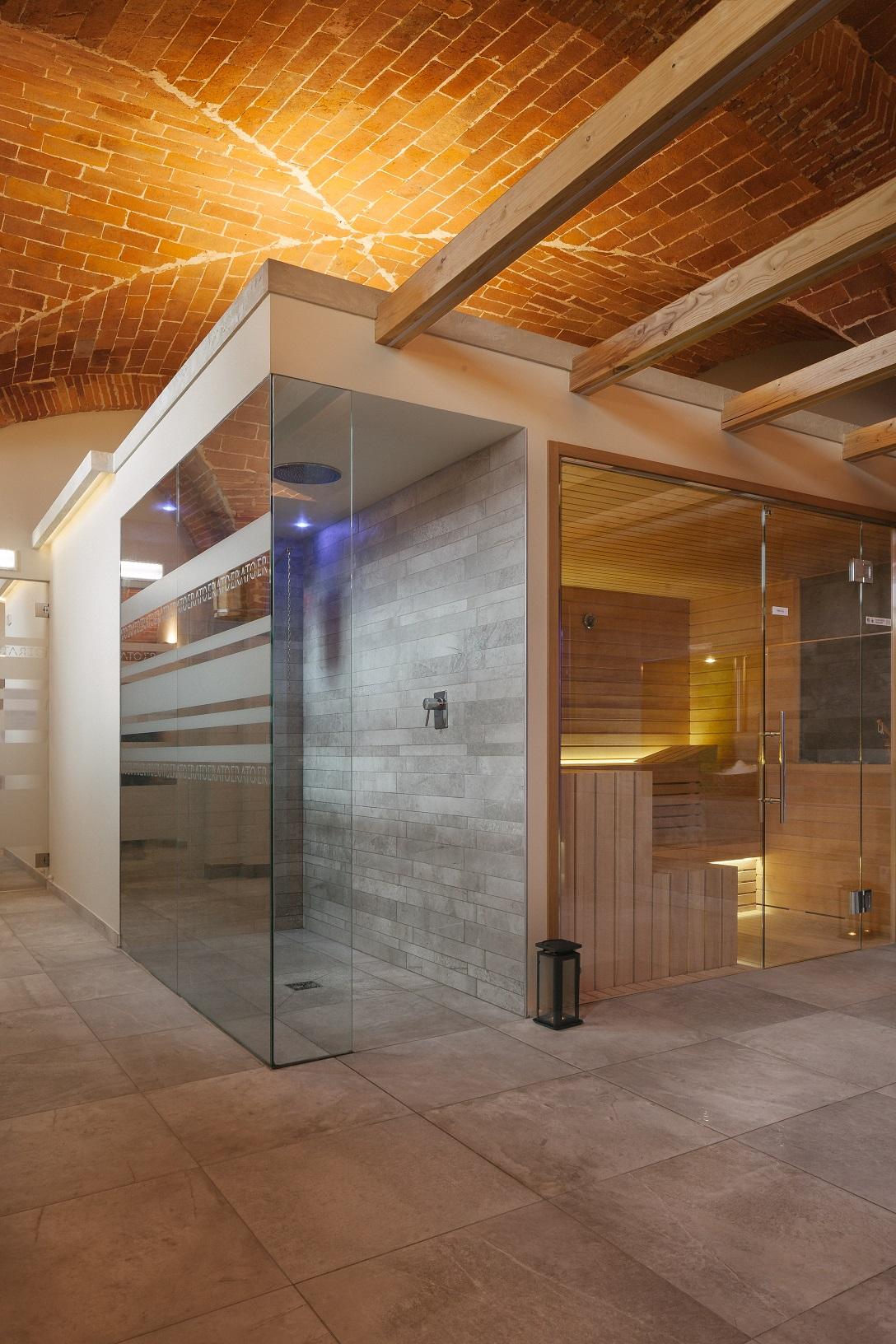 Sauna finlandese e Doccia di preparazione Tenuta di Artimino